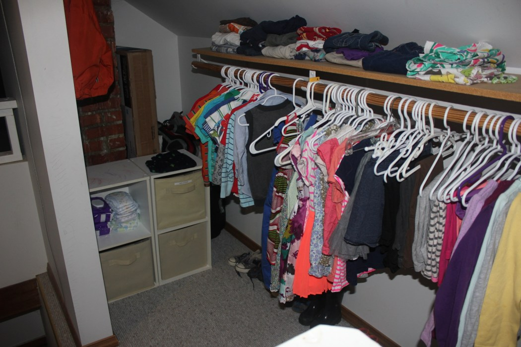 A Closet For Three - organized view to the left