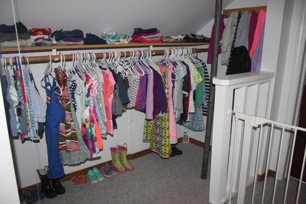 A Closet For Three - organized view to the right