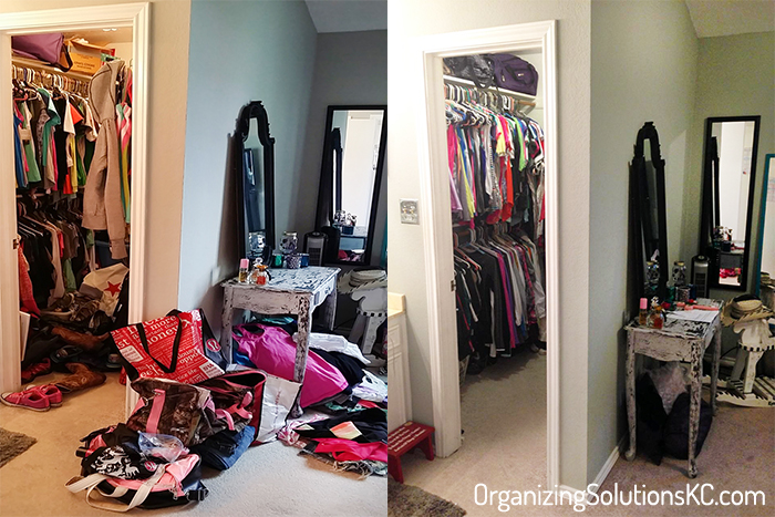 From Closet Chaos to Closet Tidy - Organized Closet and Room Before and After