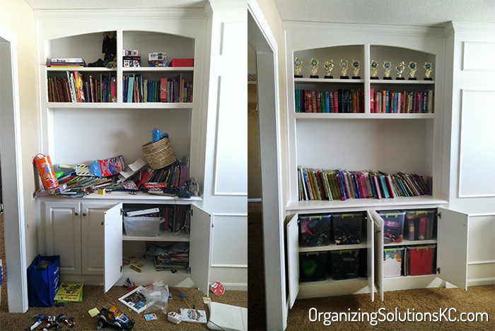 Organized Play Room - Before and After