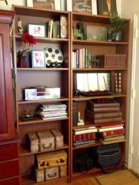 home office bookshelves | The Organizing Lady