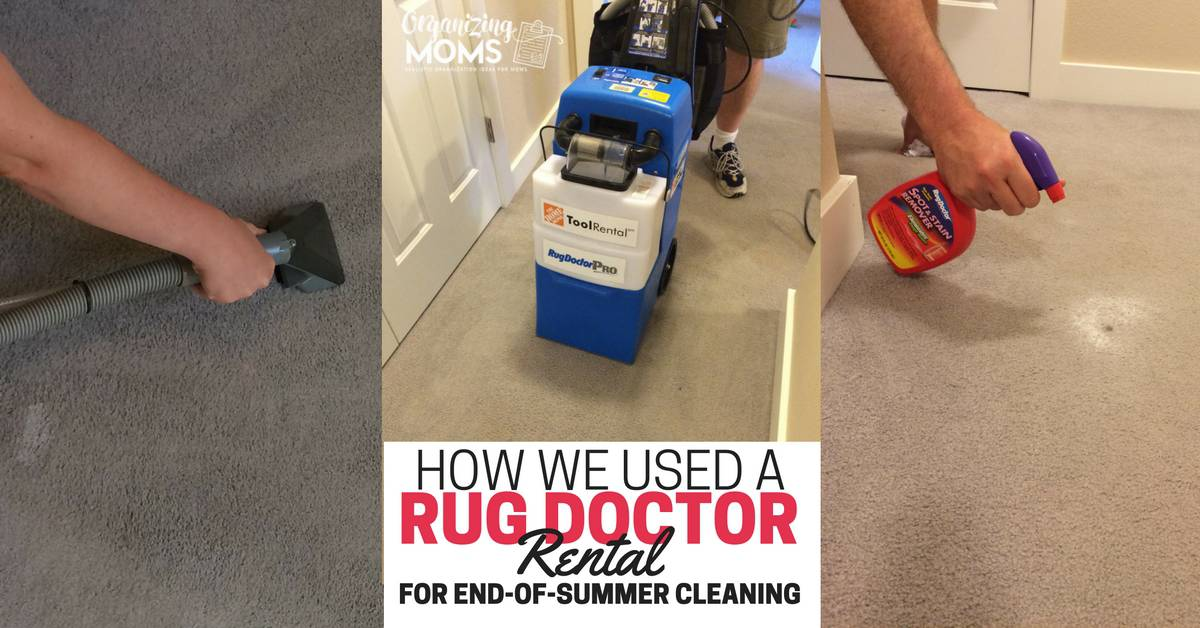 How We Used a Rug Doctor Rental for EndofSummer Cleaning