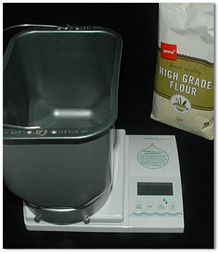 using kitchen scales