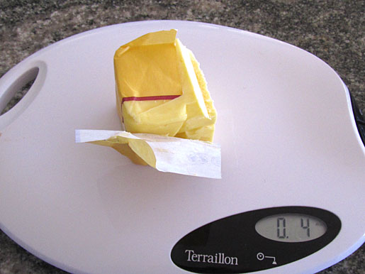weighing 4 ounces of butter