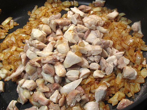 chicken and onions
