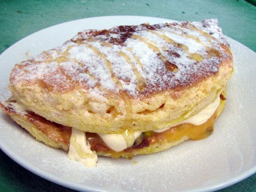 dessert omelette