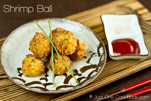 Shrimp-Ball by Nami at justonecookbook.com