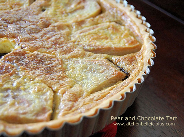 Pear and Chocolate Tart by kitchenbelleicious.com