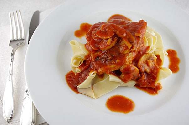 My Mom's Veal Scallopini by Jamie Schler of Life's a Feast