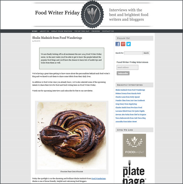 FoodWriterFriday.com