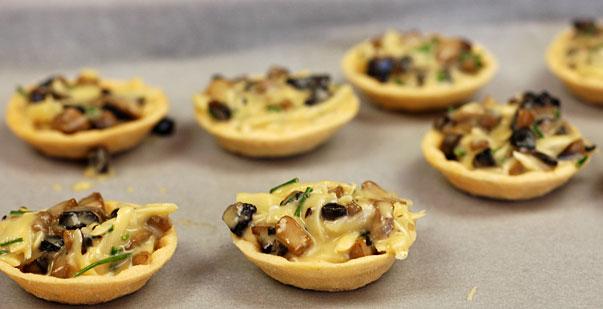 Mushroom Appetizer Tarts with Truffle Oil - Orgasmic Chef