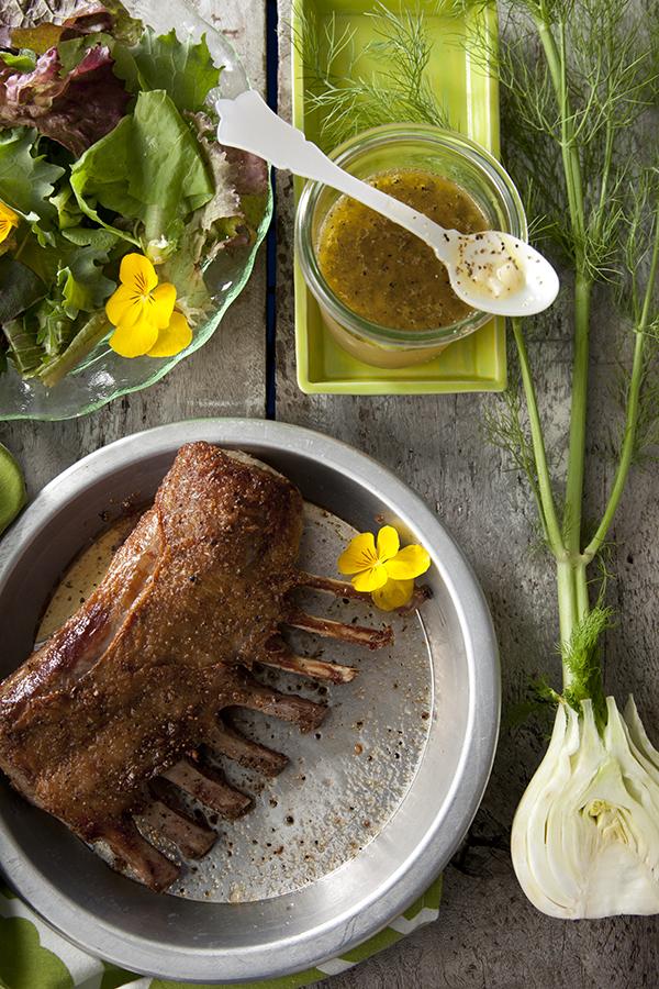 Lamb and Fennel Mint Salad
