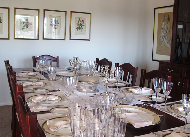 Dining Room for Thanksgiving