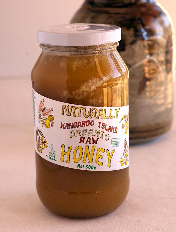 Organic raw honey from Kangaroo Island