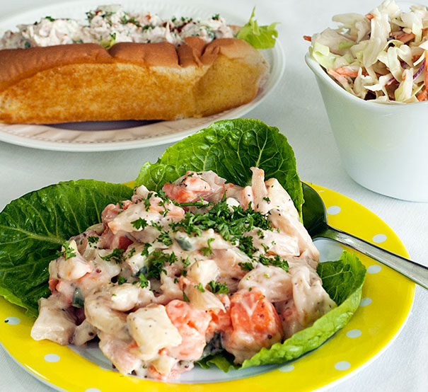 Sweet and White Potato Salad