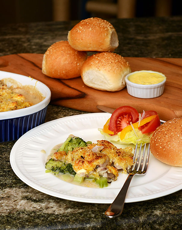 Chicken, Broccoli and Mushroom Casserole