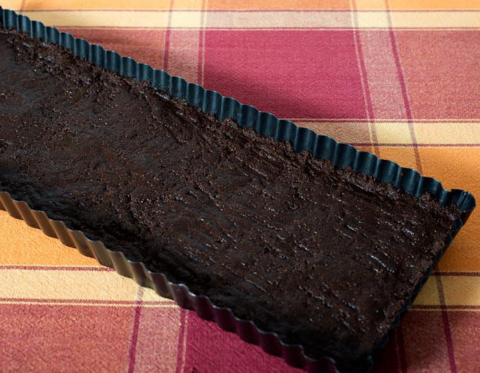 Graham cracker and chocolate crust