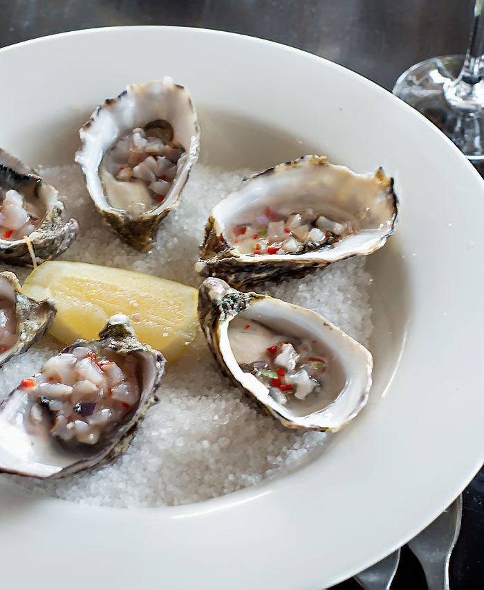 Oysters with Lychees