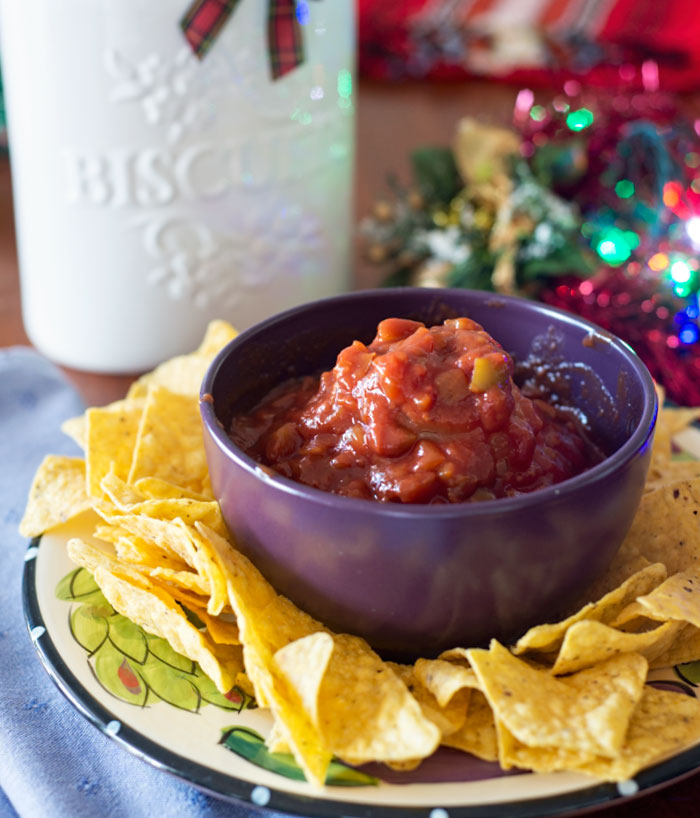 Doritos and chunky salsa
