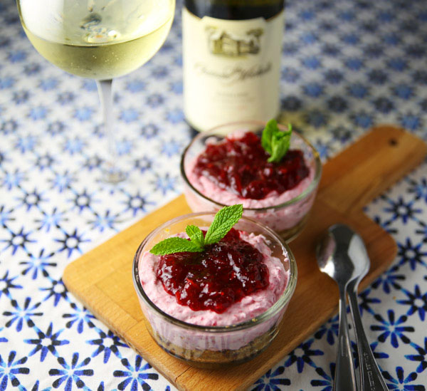 This Cranberry Sambuca Mousse is an Italian inspired rich and creamy dessert that is so flavorful!