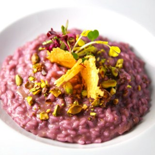 Fruits of Forest Risotto with Chocolate EVOO