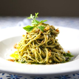 Gluten Free Spaghetti with Salsa Verde