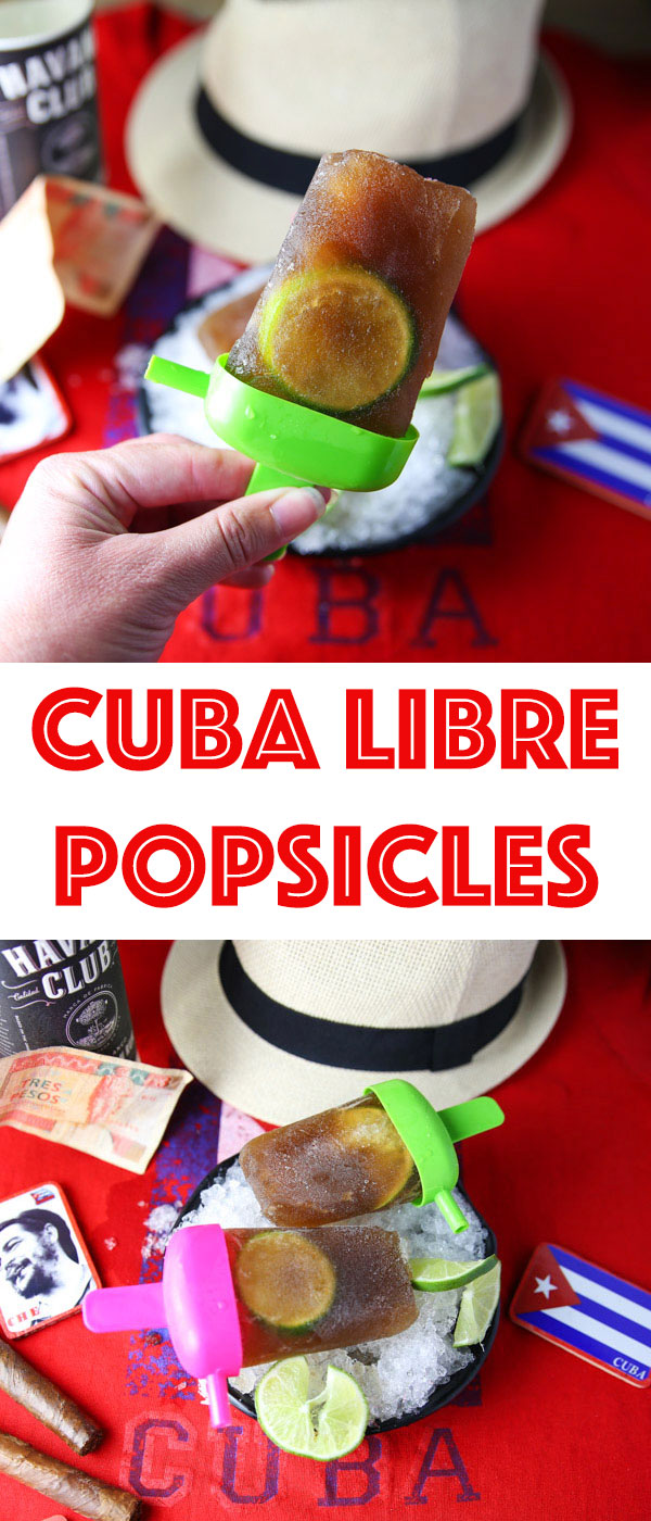 Cuba Libre Popsicles - Turning a traditional Cuban cocktail into a tasty adult frozen treat!