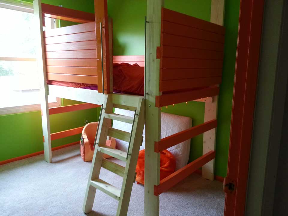 Organized child's bedroom