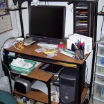 Organizing my desk…..