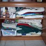 Organizing table linens….