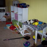 Organizing the playroom…