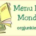 Menu Plan Monday ~ Nov 17th