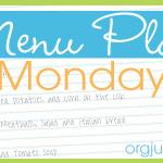 Menu Plan Monday ~ May 19/14