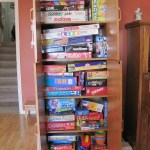 Games Cupboard Organization & Other Purge Piles