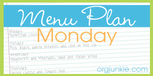Menu Plan Monday for the week of July 21/14