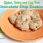 Gluten, Dairy, Egg-Free Chocolate Chip Cookies