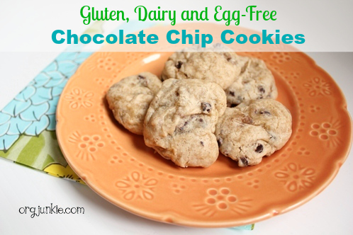Delicious gluten, dairy and egg free chocolate chip cookies