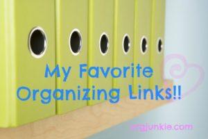 favorite organizing links