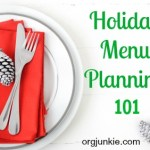 Holiday Menu Planning 101 + FREE Printable