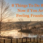 8 things to do right now if you are feeling frazzled