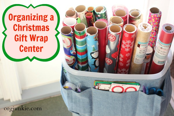 8b585935ec6 Organized for Christmas: Task #7 Gift Wrap Supplies & Organization