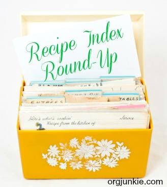 recipe index roundup