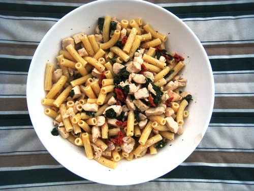 Jessica Chicken and Pasta aerial