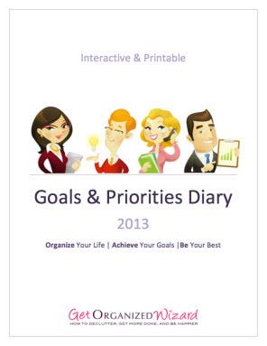 get organized diary