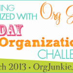 31 Day Organizing Challenge ~ 2nd Progress Link Up