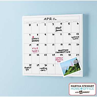 Martha Stewart Wall Manager Calendar
