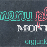 Menu Plan Monday ~ Sept 1/14