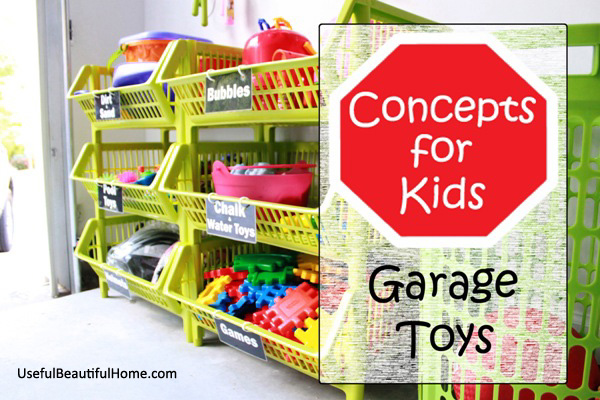 Great ideas for organizing garage toys plus free printable labels at I m an  Organizing. Organizing Concepts for Kids  Garage Toys   free printable