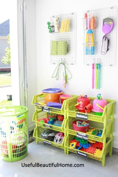 organizing garage toys