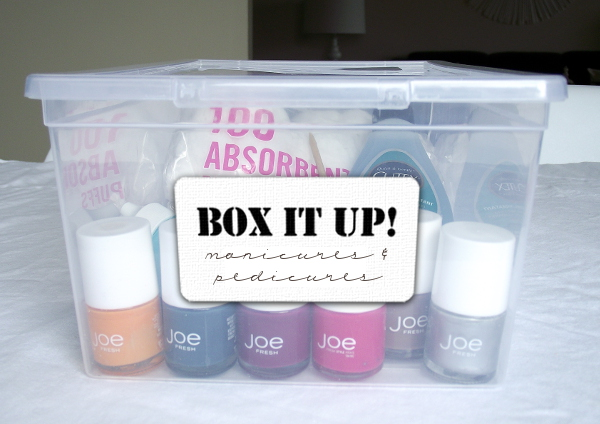 mani box with label
